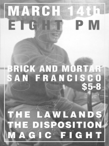 Lawlands show flyer